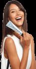 Model showing Burst whitening toothpaste