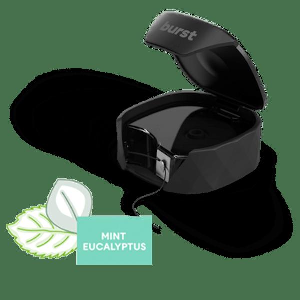 BURST Dental Refillable Floss Set - Mint Eucalyptus - Black